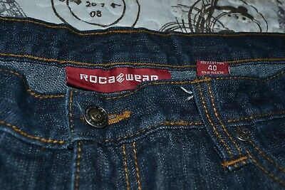 679a0c1e Mens' Roca Wear Authentic 408A059097 Denim Blue Jeans Size 40X34 (Pre-Owned)