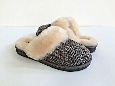 dab951bc1c8 UGG COZY KNIT Shearling Scuff Slippers, Women's - Size 5, Grey ...