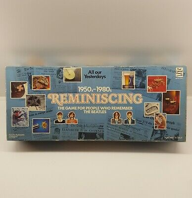 Reminiscing board game 1950s 1980s by paul lamond