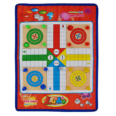 Ludo traditional game four players game easy to fold traveling ludo board