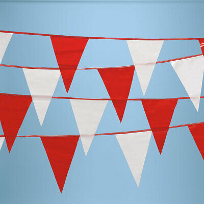 White Blue Poly Pennant String Garage Sale Parking Lot Display 105/' Length Red