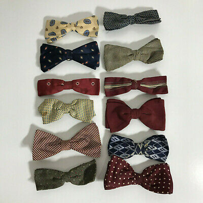 VINTAGE RETRO 1960s & 1970s Lot - Bow Tie collection - Clip On - STYLISH