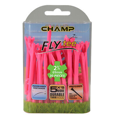 """NEW 30 Champ Zarma Fly 2 3/4"""" Plastic Golf Tees Various Colors / Free Shipping"""