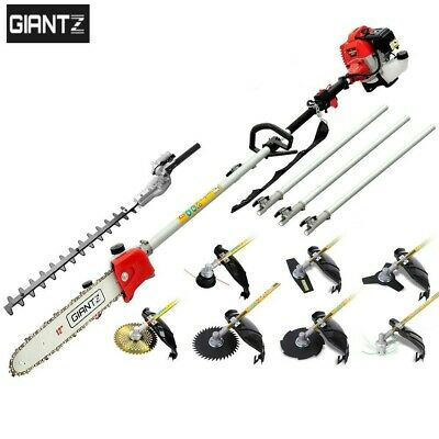 Giantz 62CC 8 in 1 Petrol Pole Chainsaw Saw Brush Cutter Whipper Snipper Hedge T
