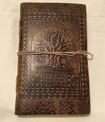 Magical Tree Of Life Leather Blank Book 100 Pages Diary Journal hand made