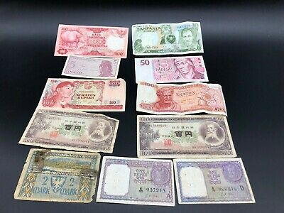Lot Of 11 Mix Used Banknotes - Collection -