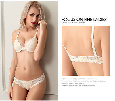 761dcd8b3 New Women Sexy Floar Lace Bra Set Thick Padded Push up Underwear   Kincker  A B C