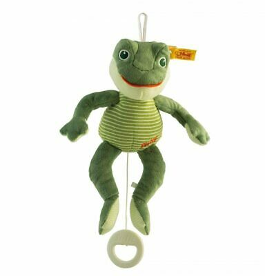 Fabio Frog Music Box - Steiff Babyworld - Green, 23cm