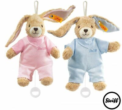 Hoppel Rabbit Music Box - Steiff Babyworld - Pink or Blue, 20cm