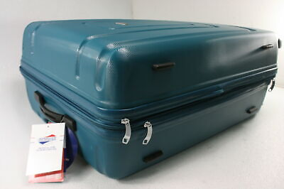 """Samsonite Centric Expandable Hardside Checked Luggage Spinner Wheels 24"""" Teal"""