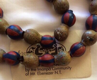 Australiana - Necklace Of Painted Gumnuts - Imanpa Community/ MtEbenezerN.T.