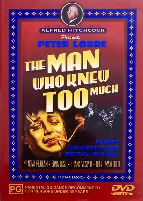 THE MAN WHO KNEW TOO MUCH DVD (V2 Brand New Sealed)