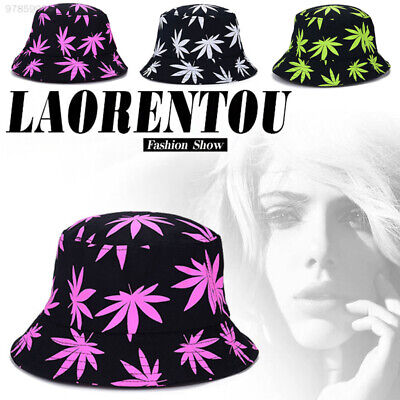 8B28 Maple Leaf Bucket Hats Ultraviolet Adults Travel Decoration Sun Hat Summer
