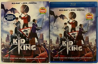 The Kid Who Would Be King Blu Ray Dvd 2 Disc Set + Slipcover Sleeve Free Shiping