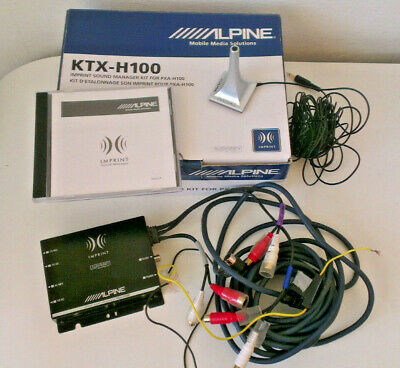 ALPINE PXA-H100 DSP IMPRINT Digital Sound Prozessor + KTX-H100 MIKROFON Set