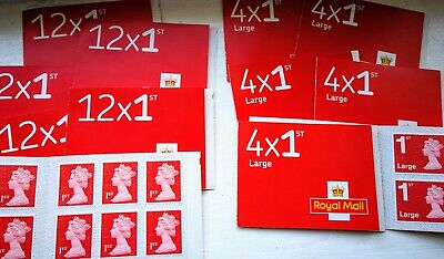 72 X Royal Mail 1st Class Stamps And 24 x 1st Class Large - New & Unused
