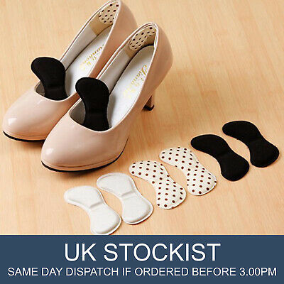 2 Pairs Heel Inserts Insoles Pads Extra Sticky Sponge Shoe Cushion Grips Strong