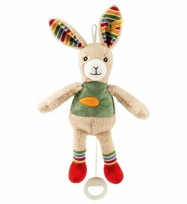 Carrie Rabbit Music Box - Steiff Babyworld - Beige / Red / Green, 26cm