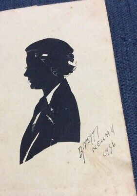 1936 Signed Silhouette Cutout By Peggy  Neway U.K