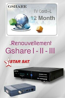 Official Renewal Gshare server  Funcam *1 year* Geant Starsat Bware Tiger