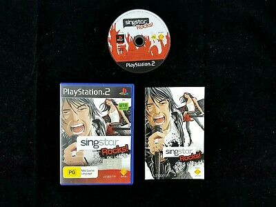 Singstar Rocks - Sony Playstation 2 PS2 Games - PAL - Free Postage