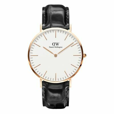 Orologio Classic Reading Daniel Wellington DW00100014 40mm nero e Cassa GoldRose