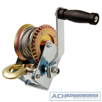 BGS 3485 - Wire Rope Winch 270 kg for Car Transport Trailer, Boots Trailer Etc