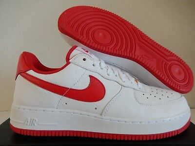 947dd3254ce8 NIKE AIR FORCE 1 Low Retro QS Think 16 AQ5107-100 White Red 9-13 ...