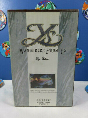 WANDERERS FROM YS X68000 Falcom - Full Edition complete, good condition