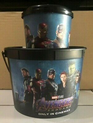 AVENGERS ENDGAME movie Popcorn Bucket + CUP + Lid for topper fr cinema theater