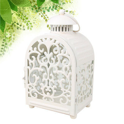 1pc Candle Lantern Vintage Wrought Iron Moroccan Style Candle Holder for Events
