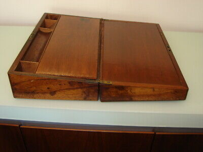 Antique Wooden Writing Travel Box. VGC FOR AGE.