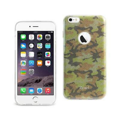 New REIKO IPHONE 6 PLUS/ 6S PLUS SHINE GLITTER SHIMMER CAMOUFLAGE HYBRID CASE IN