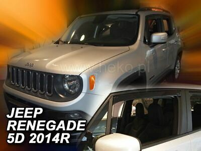 2 Deflettori Aria Antiturbo Jeep Renegade 2014 in poi 5 porte