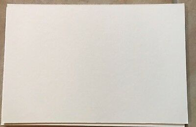"""Pack of Five Mount Board Mountboard Card 5"""" x 7"""" 5x7 inch Soft White Bevel Edged"""