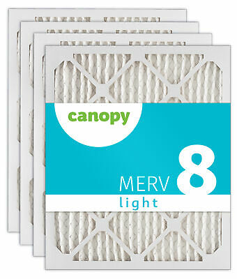 "Canopy Filter 19 7/8 x 21 1/2 x 1 MERV 8, 19 7/8"" x 21 1/2"" x 3/4"", Box of 4"