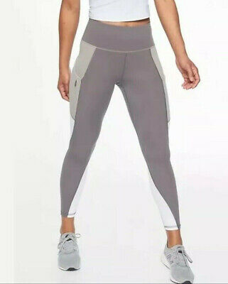 268e84793a2c1 ATHLETA S 4 6 Colorblock Up For Anything 7/8 Tight Leggings Silver Bells  209921