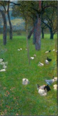 After the rain, Garden with Chickens Gustav Klimt - Canvas Wall Paintings (S22)