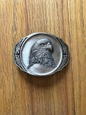 Vintage Modern Belt Buckle Eagle head Brass