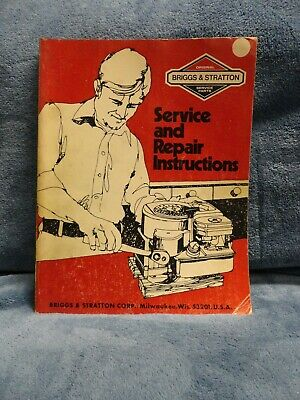 BRIGGS & STRATTON Service AND Repair Instructions Maunal