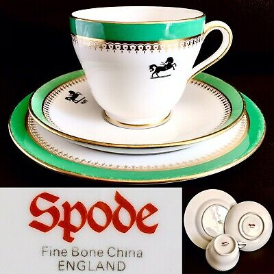 Very Rare Vintage Lloyds Bank Official Bone China Cup & Saucer Trio Set By Spode