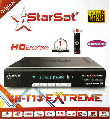 Starsat sr-2000HD Extreme receiver +Forever server +sstv +Apollo +vod +youtube