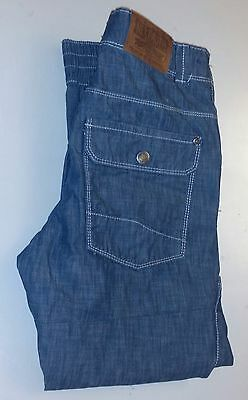 Boys Girls NEXT Kids Light Blue Denim Jeans Age 11 Drawstring Adjustable Band