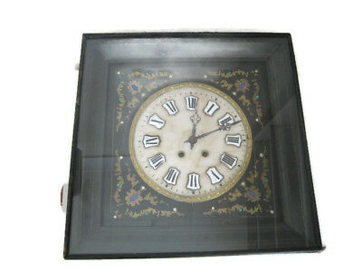 Rare Antique French 1800s Victorian Era Mechanical Pendulum Wall Clock w/ Chime