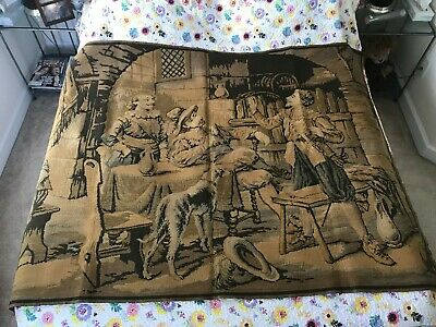 """Beautiful Large Wool Antique French Tapestry 18th Century Scene 68"""" x 50"""""""