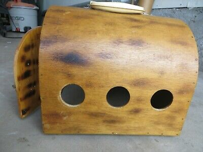Vintage Cat Dog Small Pet Carrier Wooden