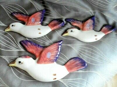 Set of 3 Graduated Flying Kookaburra Wall Plaques