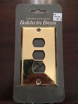 Baldwin Hardware Polished Brass Switch-Plate/Outlet Covers (Lot of 5)