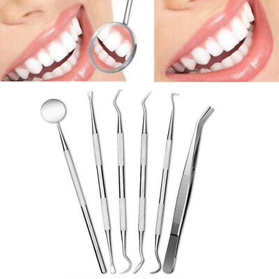 1Pc Stainless Steel Dental Set Dentist Teeth Oral Clean Kit Probe Tweezers Tools