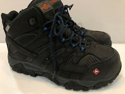 4ab29e2f6bb MERRELL MEN'S MOAB 2 Mid Composite Toe Waterproof Safety Work Boots 9 M + 9  W